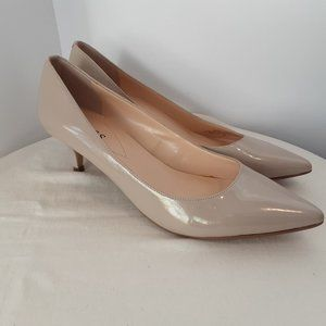 Guess Cream Patent Kitten Heel Shoes | New! 7.5